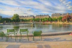 Jardin des tuileries,巴黎,法国 库存图片