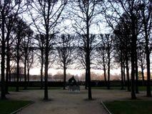 Jardin des Tuileries. In Paris in winter Stock Photography
