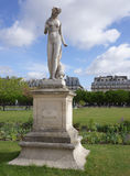 The Jardin des Tuileries. Louis Auguste Lévêque : Nymphe. Paris,France- April 30, 2017: The Jardin des Tuileries. Louis Auguste Lévêque : Nymphe Stock Images