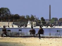 Jardin des tuileries Parijs Frankrijk Royalty-vrije Stock Afbeeldingen