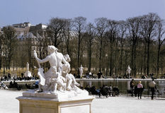 Jardin des tuileries Parijs Frankrijk Royalty-vrije Stock Foto