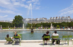 Brunnen In Jardin DES Tuileries Paris, Frankreich. Stockbild - Bild ...