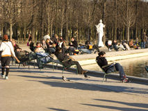 Jardin des Tuileries Royalty Free Stock Photo