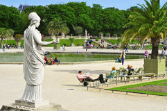 Jardin du Λουξεμβούργο στο Παρίσι, Γαλλία Στοκ Φωτογραφίες