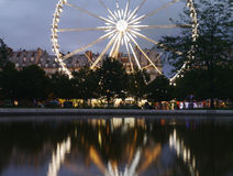 Jardin du Carrousel et DES Tuileries Ferris Wheel Paris Fotografia Stock