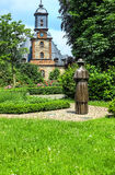 Jardin du château (1722 -1752) dans Langenselbold près de Hanau, Allemagne Photographie stock libre de droits
