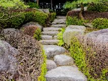 Jardin du Japon de tradition, jardin de zen image stock