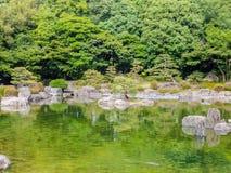 Jardin du Japon de tradition, jardin de zen photo stock