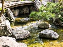 Jardin du Japon de tradition, jardin de zen photo libre de droits