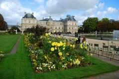Jardin du Lussemburgo & palazzo Fotografia Stock