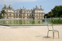 Jardin du Luxembourg. Luxembourg gardens in paris, France stock photo