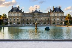 Jardin du Luxembourg, Paris, France. The Jardin du Luxembourg, also known in English as the Luxembourg Gardens royalty free stock photos