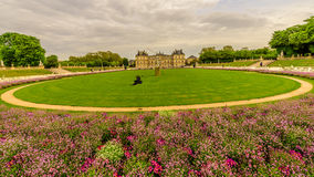 Jardin du Luxembourg in a cloudy day, Paris France Stock Images