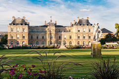 Jardin du Luxembourg with the Palace Stock Photography