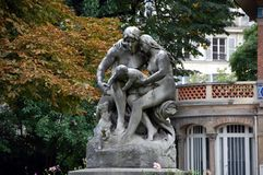 Jardin du Luxembourg. Sculpture in the Luxembourg Gardens Jardin du Luxembourg in Paris, France. Luxembourg Gardens was created in 1612 royalty free stock images