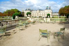 Jardin du Luxemburg & Paleis Royalty-vrije Stock Afbeelding