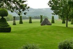 Jardin du Manoir d'Eyrignac 免版税库存照片