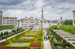 Jardin du Mont des Arts, Brussels Stock Photography