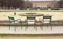 Jardin du Palais Royal in winter (Paris France) Royalty Free Stock Image