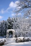 Jardin en hiver Photos libres de droits