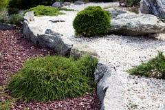 Jardin en pierre Image libre de droits