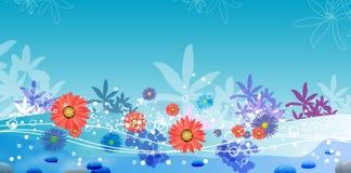 Jardin et eau illustration stock