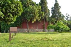 Jardin et plaquette Photographie stock libre de droits