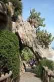 Jardin exotique au Monaco Images libres de droits