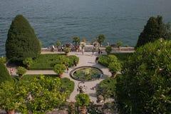 Jardin fantastique de palais de Borromeo sur le lac Maggiore dans Piémont, Italie Photographie stock