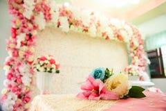 Jardin formel, parterre, été, mariage, cérémonie de mariage Photo stock