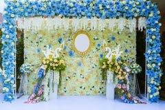 Jardin formel, parterre, été, mariage, cérémonie de mariage Image libre de droits