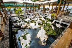 Jardin grand-angulaire de bonsaïs Images libres de droits