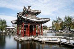 Jardin historique de Pékin, Chine en hiver Photo stock