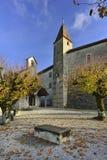 Jardin intérieur de château de Gruyeres Images stock