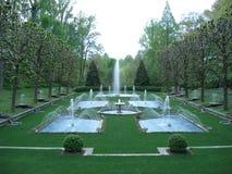 Jardin italien de l'eau dans des jardins de Longwood photos libres de droits