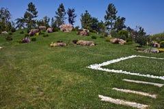 Jardin japonais à Eskisehir Images libres de droits