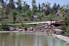 Jardin japonais à Eskisehir Photos stock