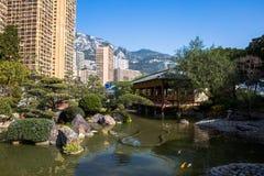 Jardin japonais à Monte Carlo Image stock