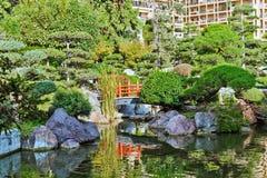 Jardin japonais à Monte Carlo Photographie stock libre de droits