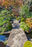 Jardin japonais au temple de Hasedera à Kamakura Photo stock