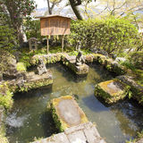 Jardin japonais au temple Kamakura, Kanagawa, Japon de Hase Kannon Images stock