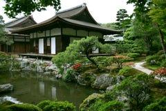 Jardin japonais d'horizontal Photos libres de droits