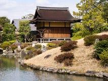 Jardin japonais d'horizontal photographie stock