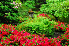 Jardin japonais dans des jardins de butchart Photo stock