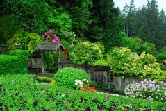 Jardin japonais dans des jardins de butchart Image libre de droits