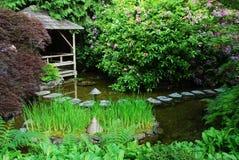Jardin japonais dans des jardins de butchart Photographie stock libre de droits