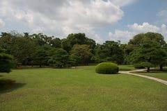 Jardin japonais de Nijojo, Kyoto Photographie stock libre de droits