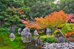 Jardin japonais de parc comm?moratif de l'expo ?70 photo libre de droits
