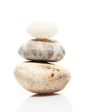 Jardin japonais de pierre de zen d'isolement sur le blanc Photo libre de droits