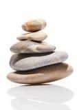 Jardin japonais de pierre de zen d'isolement sur le blanc Image stock
